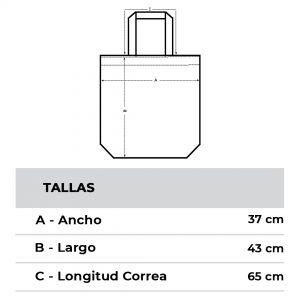 Medidas Tote Bag